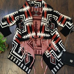 Selfie Couture by Trendology Boho Aztec cardigan